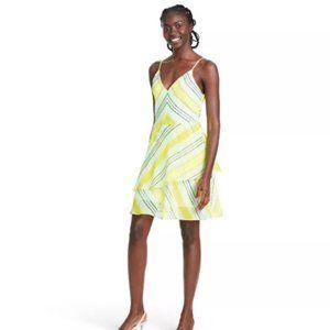 Striped Sleeveless Slip Dress